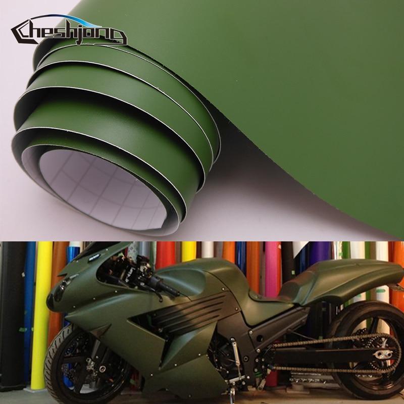 Adesivo matte vinil filme envoltório do carro fosco exército verde scooter motocicleta pvc decalque rolo