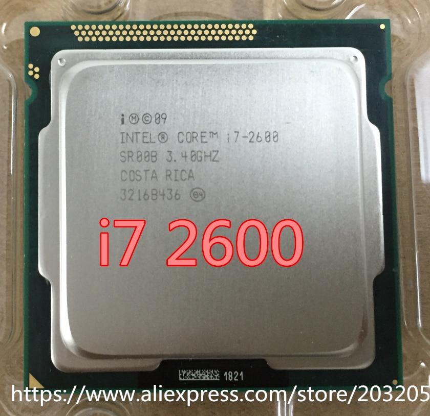 Intel Core i7 i7-2600 2600 procesador M Cache 3,40 GHz CPU LGA 1155 I7 2600 trabajo