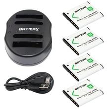 4-Pack NP-BN1 NPBN1 NP BN1 MILLIARDS Batterie & Chargeur Double USB pour SONY DSC TX9 T99 WX5 TX7 TX5 W390 W380 W350 W320 W360 QX100 W370