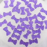 boliao 20pcs 1220 mm 0 470 79 in bow shape resin purple scrapbook shiny delicate clothesbagshats decoration craft diy