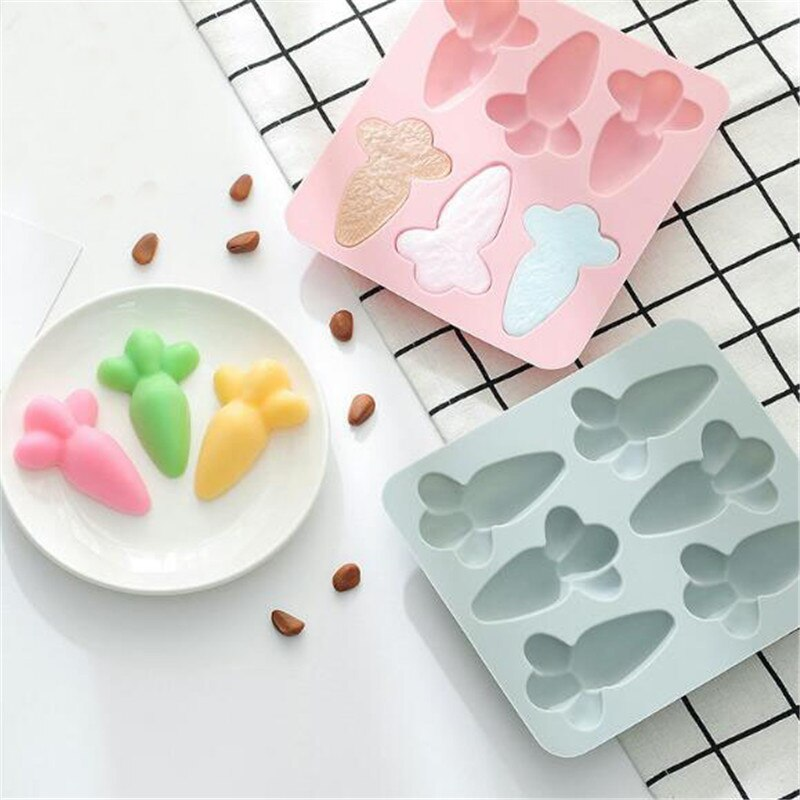 De silicona molde de la torta de zanahoria forma de jabón hecho a mano molde de silicona Chocolate moldes para hornear herramientas de cocina