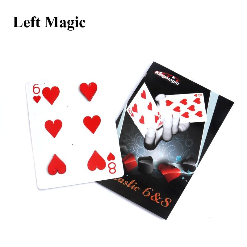 Волшебная трюк карта с движущейся точкой от 6 до 8, Волшебная трюк карта для профессионального волшебника C2024