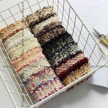 6 yards/lot tweed gurtband 3 cm breit klassische band mit pailletten in vintage stil zubehör für tasche bekleidungs freies verschiffen