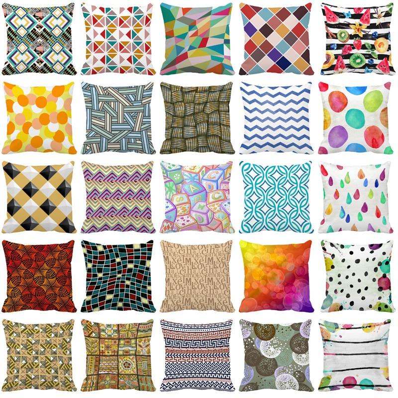 Cushion Cover 45x45cm,50*50cm,60x60cm,Nordic Simple Geometric Decorative Throw Pillows Cushion Covers for Sofa Polyester Cotton