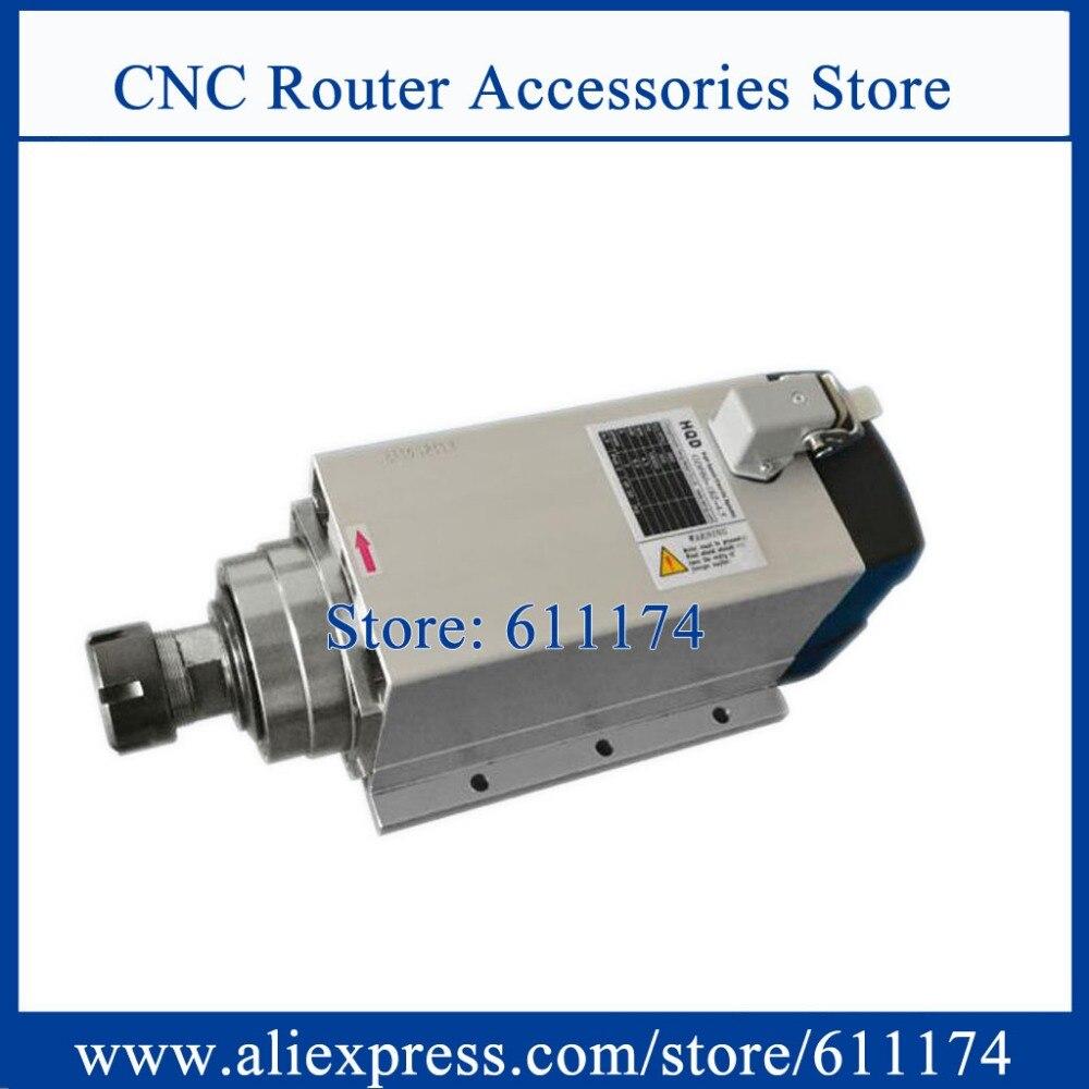 محرك المغزل المبرد بالهواء للطحن والنقش ، سرعة منخفضة 18000 دورة في الدقيقة 2.2KW ER20 AC220V