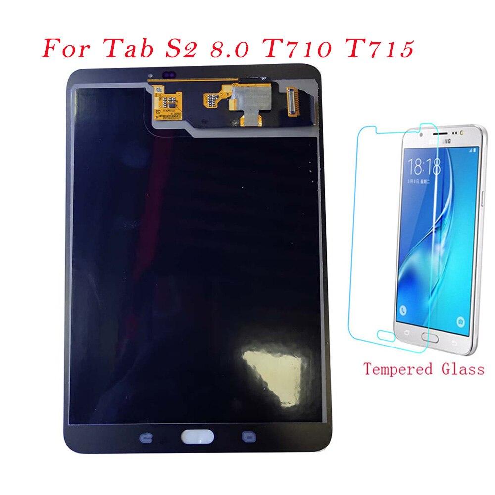 Tableta de prueba LCD para Samsung Galaxy Tab S2 8,0 T710 T715 SM-T710 pantalla LCD MONTAJE DE digitalizador con pantalla táctil T710 LCD Original