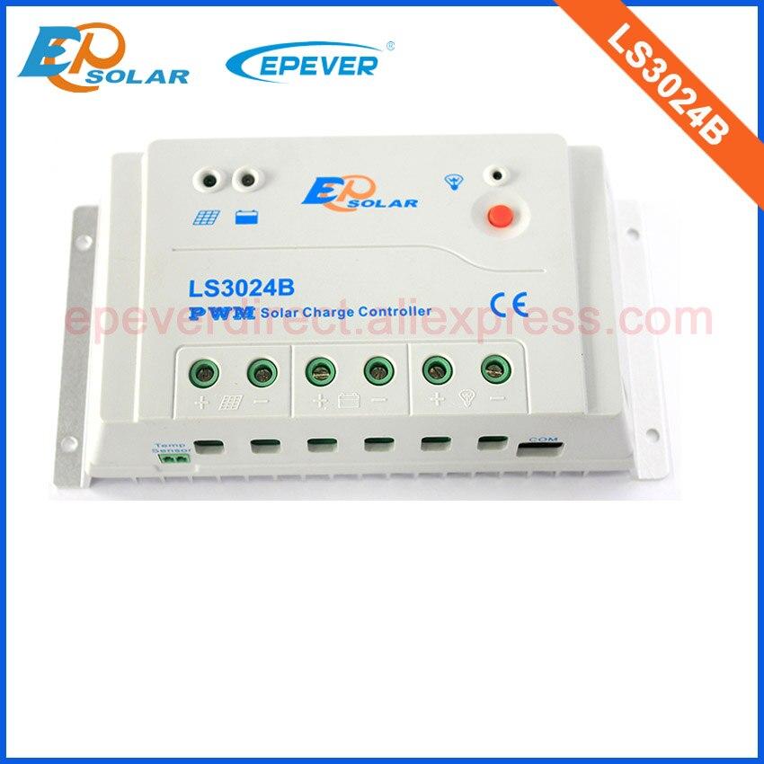 pwm regulador de carga do painel solar 30amp 30a ls3024b para 12v 24v ststem trabalho automatico
