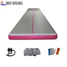 Grande rivière colline tapis de gymnastique gonflable piste dair imperméable rose 6 m x 1.65 m x 10 cm