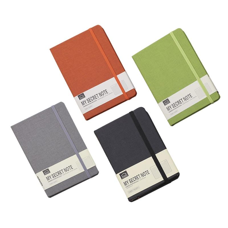 Cubierta dura A5 A6 Ruled Notebook diario forrado