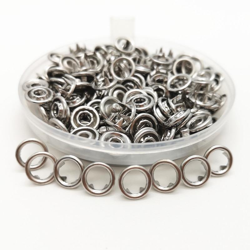 Prensa de Metal de metal de 7,2mm punta botones sujetadores prensa remaches Poppers bebé deslizadores hebillas de encaje