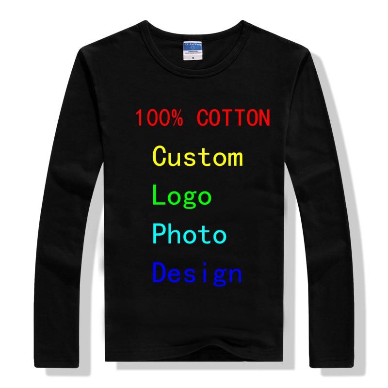 Camisetas para hombre con Logo publicitario 2018, camisetas personalizadas, ropa de manga larga, Camisa Masculina, camisetas de algodón, camisetas para hombre nuevas