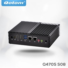 Qotom mini pc i7 Q470S avec i7-4500U de base jusquà 3.0GHz AES-NI 3G/4G emplacement SIM, WOL 7/24h sans ventilateur faible puissance petit ordinateur de bureau
