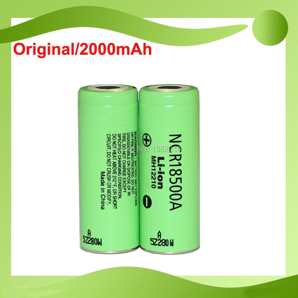 Frete grátis!! 2 pçs/lote nova versão original 3.6 v 18500 ncr18500a 2040 mah bateria recarregável para panasonic