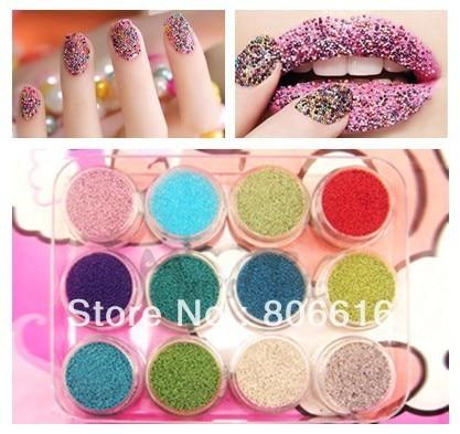 (Style2) Freeshipping 12 Colors / Set Art Nail Product Acrylic Beads Caviar Nail Decoration for Nail