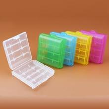 Centechia 2 pièces/lot Mini Portable en plastique porte-batterie boîte de rangement pour AAA/AA batterie Rechargeable couverture complète