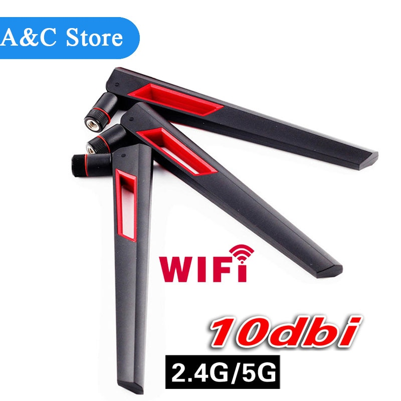 Omni-Direcional Dbi Antena Wi-Fi De Longo Alcance Dual Band 10 2.4/5Ghz 802.11n/b/g 4 pçs/lote