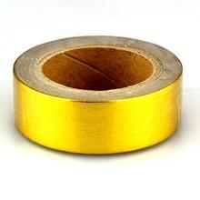 Gold Folie Washi Tape Japanischen Papier 1,5*10 meter Kawaii Scrapbooking Werkzeuge Mix Solide Farben Masking Tape Adhesiva Decorativa band