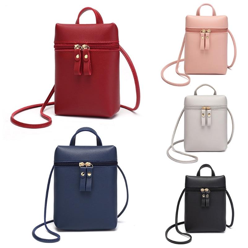 Маленькая сумка для женщин и девушек, сумочка, кошелек для монет, сумочка на плечо для сотового телефона, сумка на молнии, кошелек для монет