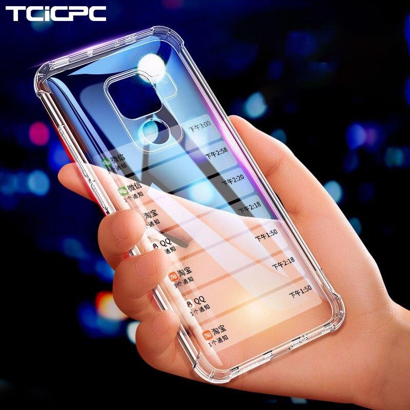 Funda Honor 8X 20 para Huawei Mate 20 Lite, carcasas de lujo de TPU transparente suave para Huawei Mate 20 Pro 20X Honor 20 Pro Fundas