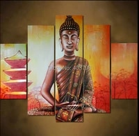modern abstract huge large canvas art oil painting buddha light tower paintings no framed