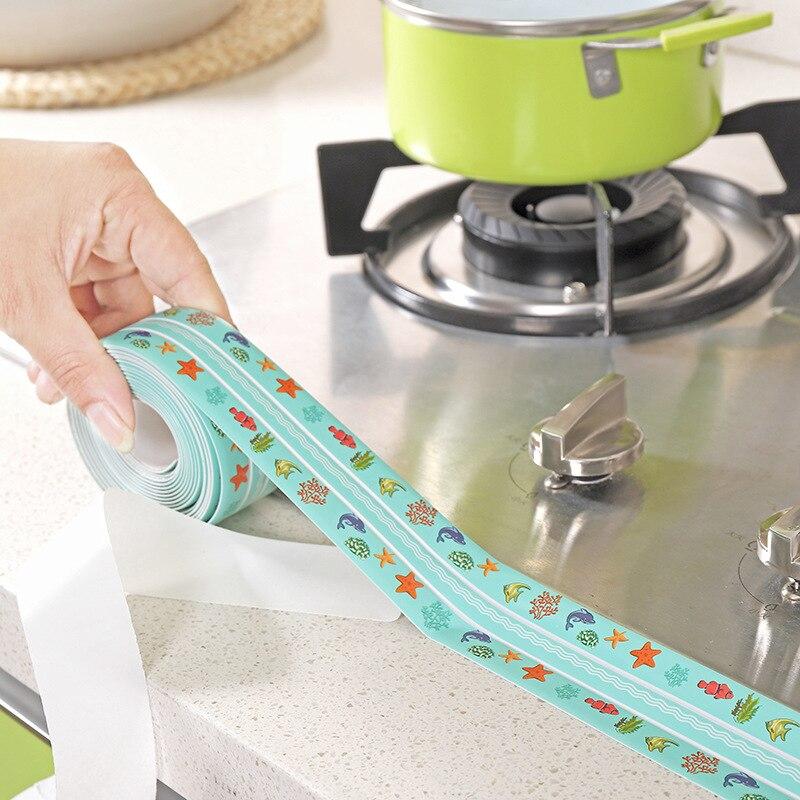 38*3200mm doble pliegue Anti-moho cinta adhesiva acrílico costura parche hogar parche para coser fregadero recortable parche impermeable