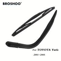 broshoo car rear wiper blade blades back windscreen wiper arm for toyota yaris hatchback 2001 2005 305mm auto styling
