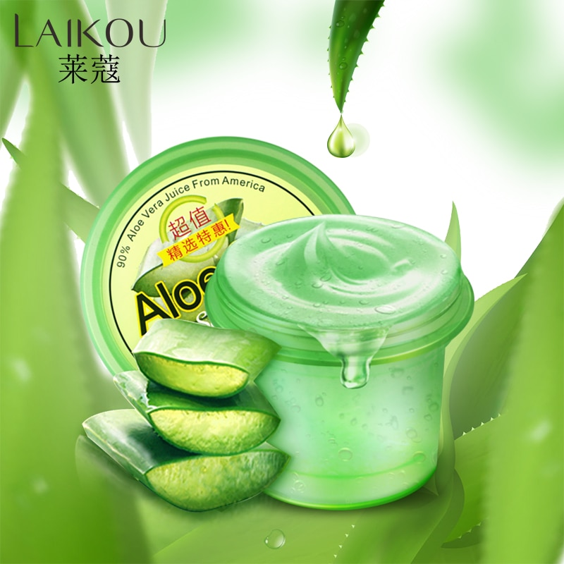 LAIKOU puro Gel de Aloe Vera crema hidratante removedor de arrugas Anti acné Anti-sensible aceite-Control solar crema