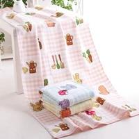 70x140cm radish rabbit gauz bath towel thicken and pure cotton bath towel bathroom beach towel for adult commodity multifunction