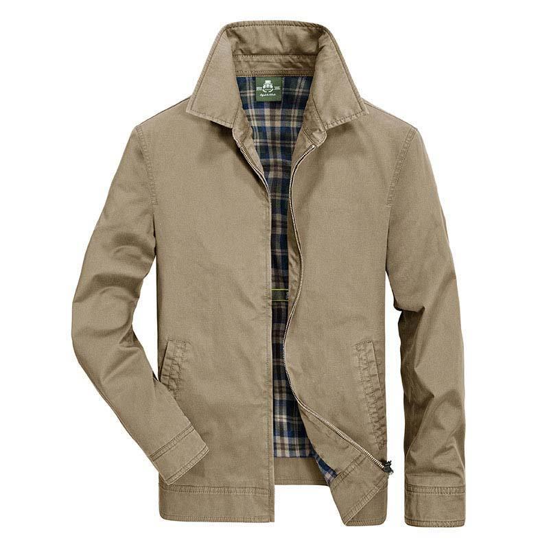 Мужская одежда, военная куртка-бомбер, мужская деловая Повседневная ветровка, верхняя одежда, пальто, хлопковая одежда на весну и осень, бол...