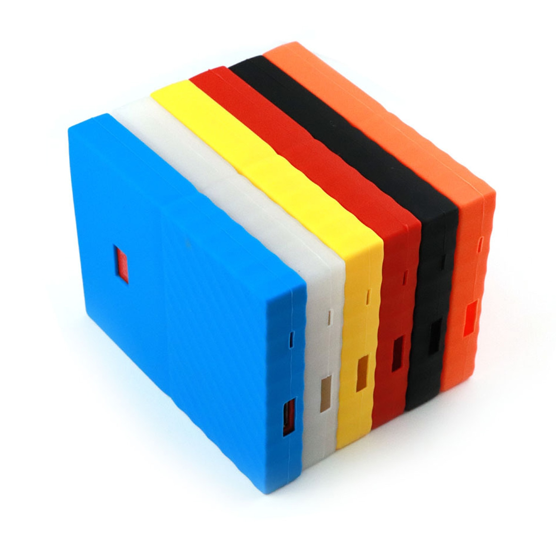 Bevigac Silicone HDD étui sac de protection disque dur housse de protection manchon protecteur peau pour WD Western Digital mon passeport 1 T 2 T