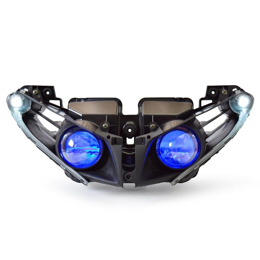 KT LED دراجة نارية المصباح الجمعية لياماها YZF R1 2012-2014 كشافات الجبهة الانتهاء