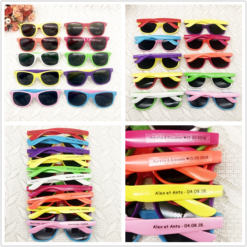 Free Customize Design Neon Plastic Wedding Party Supplies Adult Big Party Hen Party Sunglasses Funny Sunglasses Lot Party Favor
