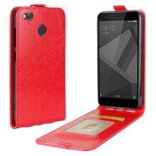 WIERSS étui en cuir pour Xiaomi Redmi 4X pro 2 GB 16 GB 3 GB 32 GB 5.0