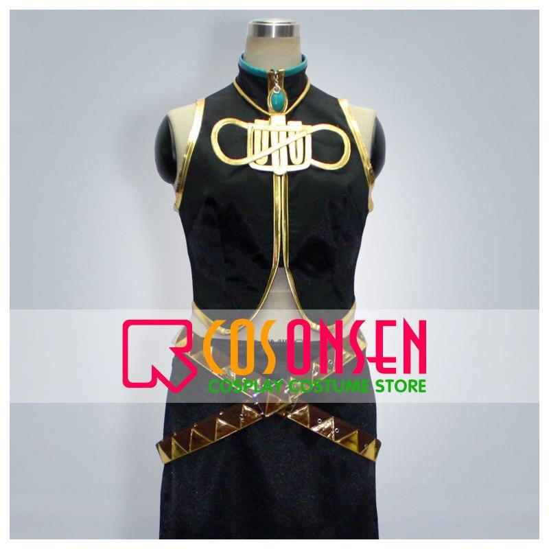 Cosplayonsen vocaloid megurine luka cosplay traje preto cor artesanal + acessórios