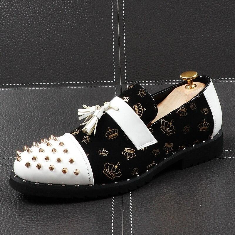 CuddlyIIPanda-حذاء موكاسين جلدي بدون أربطة للرجال ، ماركة فاخرة ، عصري ، نمط الشرير ، بدون أربطة ، للصيف