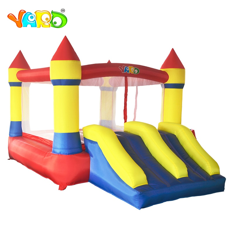 YARD Children Inflatable Bouncy Castle 3.7x2.6x2.1M Trampoline Double Sides Play House with Blower Inflatable Bouncer Outdoors yard bouncy castle inflatable jumping castles 3 5 3 2 7m trampoline for children house inflatable bouncer with slide blower