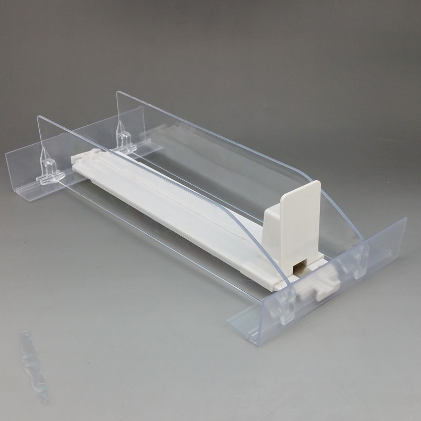 Plastic Shelf Cigarettes Automatic Pushing Divider System for Small Products Package In Supermarket Retail Rack 1Pack