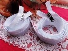 5# white resin zipper double sliders double open end 250cm 2pcs/lot zipper for diy sleeping bags tent Bedclothes sofa zippers