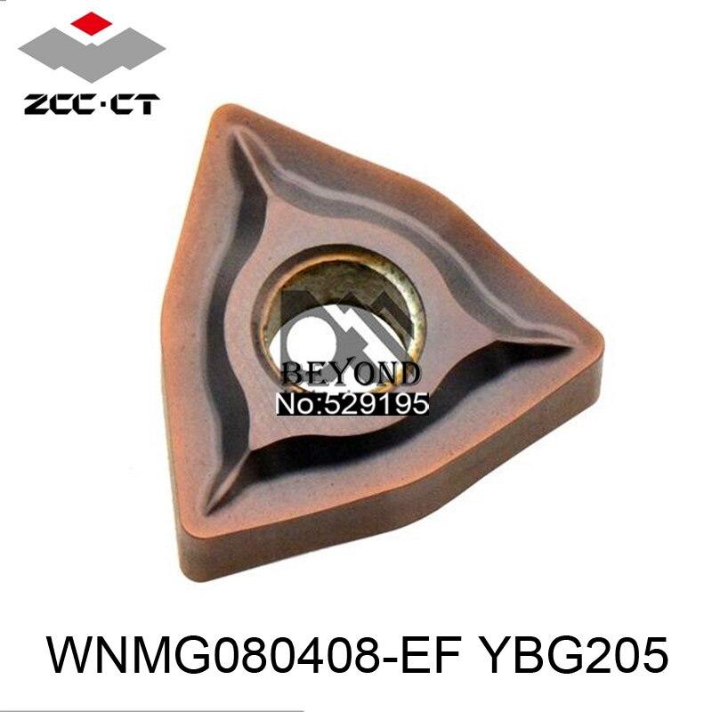 WNMG080408-EF dorigine ZCC YBG205 WNMG080408 WNMG 080408 plaquettes de carbure outils de tour outil de tournage