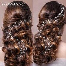 Bandeau de mariage perle fleur bandeaux de mariée fête de mariage accessoires de cheveux pour dames mariée diadème romantique bijoux de cheveux