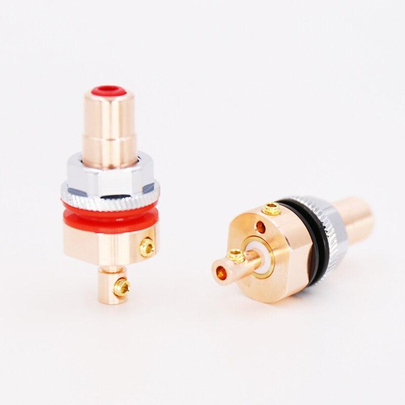 Viborg X nueva marca 4 Uds alta calidad ninguno chapado 99.995% puro cobre tornillo RCA chasis del zócalo conector CD amplificador