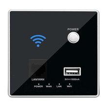 New 300M Rate 110~250V  USB Socket Wireless WIFI USB Charging Socket,Wall Embedded Wireless AP Router