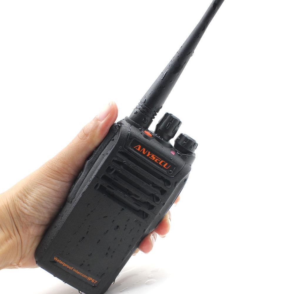 ANYSECU IP67 Wasser-proof Radio WP-67 UHF 400-470 mhz 16CH Tragbare 4 watt Walkie Talkie
