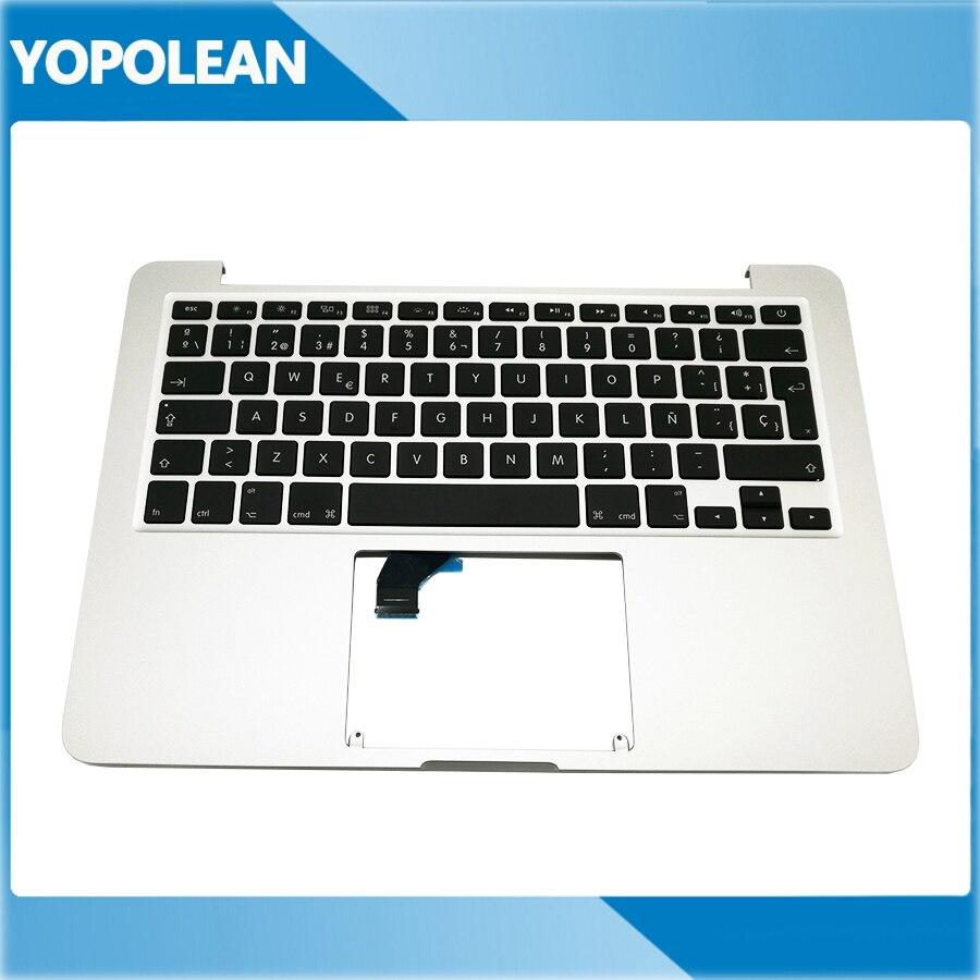 """Novo para macbook pro retina 13 """"a1502 topcase palmrest caso superior teclado substituição layout espanhol 2015 anos"""