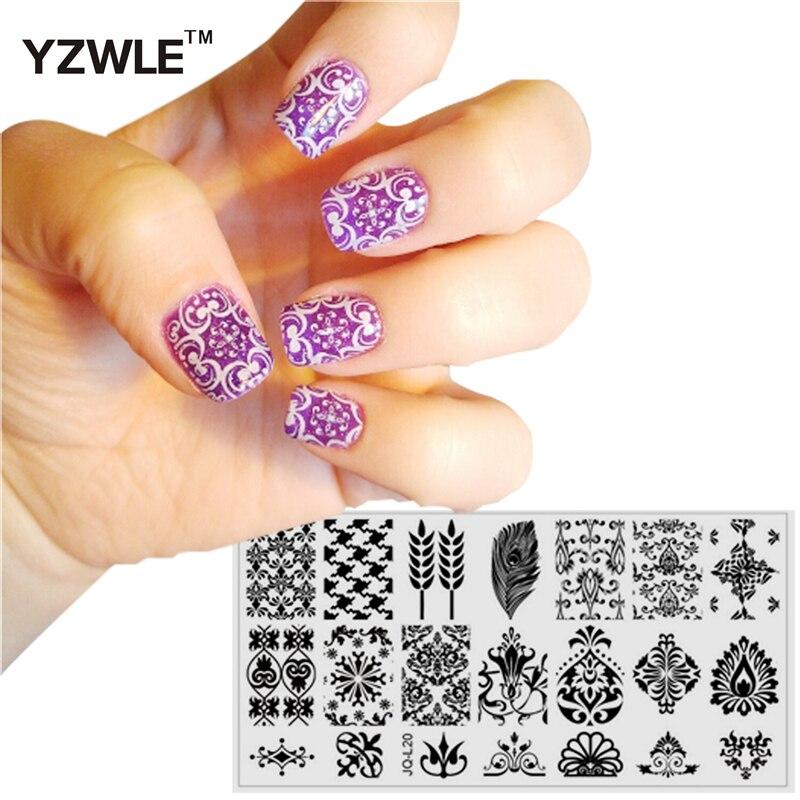 2020 nuevos estilos Nail Art Stamp estampado imagen placa 6*12cm Acero inoxidable Plantilla de uñas Plantilla de manicura herramientas