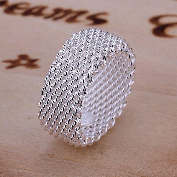 Die beste geschenk hochzeit schöne mode exquisite silber schöne mesh nette frauen ring silber farbe klassische modelle silber schmuck R040
