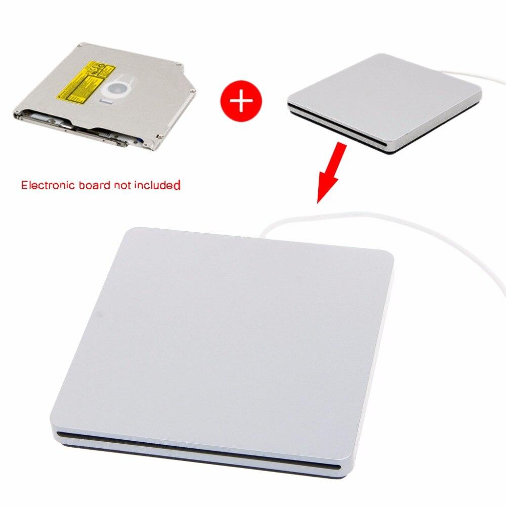 USB externo CD DVD RW caja de cierre para Macbook Pro aire Unidad óptica