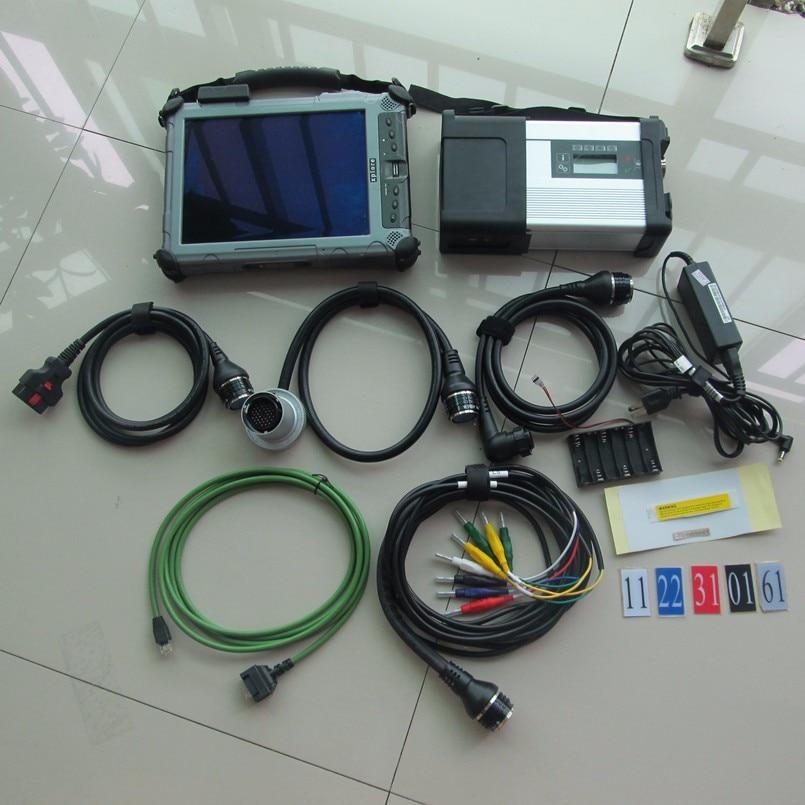 Compacto star c5 mb sd c5 con ssd 2019,12 último software tableta portátil xplore ix104 i7 4g herramienta de diagnóstico estrella para coches y camiones