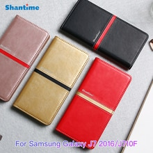 Luxury Leather Book Case For Samsung Galaxy J7 2016 Case Silicone Back Cover For Samsung Galaxy J710