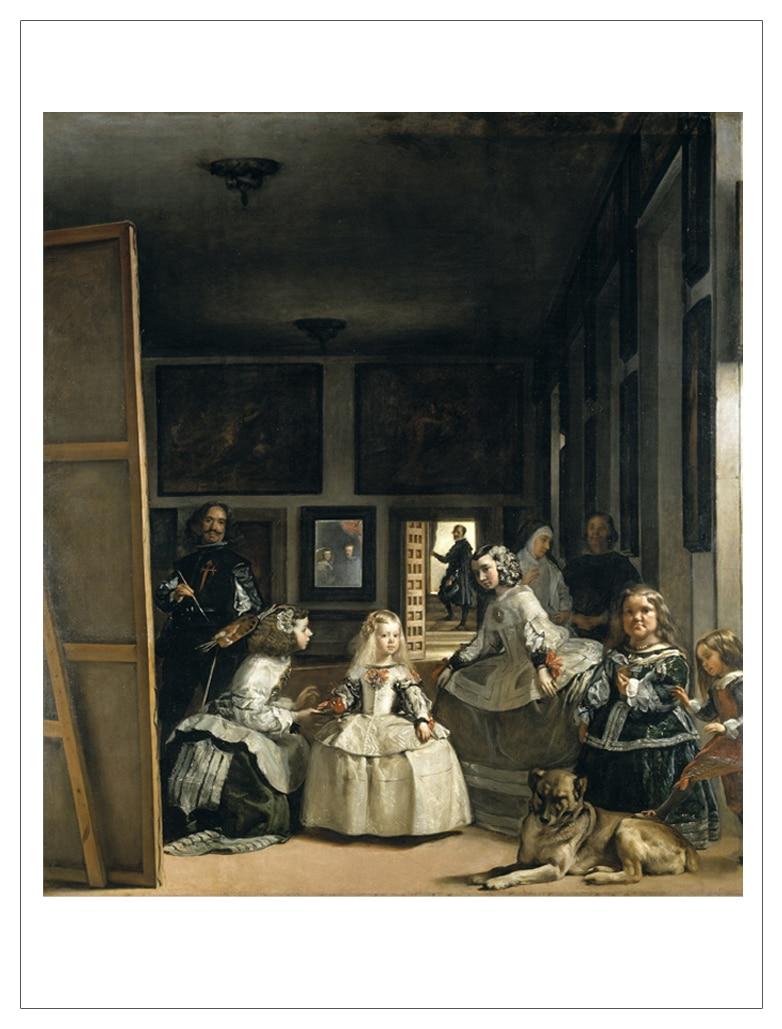 frameless canvas painting deco art poster European Velazquez Diego Rodriguez de Silva y - The Family of Felipe IV or Las Meninas